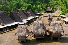 Bena Village. Traditional indonesian villega Bena on Flores island Stock Images