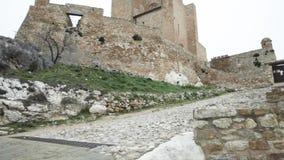 Benabarre castle, Huesca, Aragon, Spain stock footage