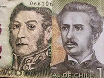 benadering van Argentijns bankbiljet van vijf peso's en Chileens bankbiljet van 1000 peso's