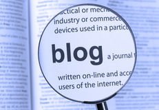 Benadrukte blog Stock Foto