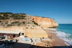 Benagil在阿尔加威,葡萄牙 免版税库存照片