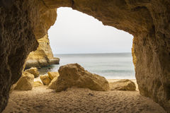 Benagil beach caves, Algarve, Portugal Royalty Free Stock Images