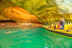 Benagil Cave boat tour Stock Photos