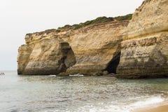 Benagil plaża zawala się, Algarve, Portugalia Obrazy Stock