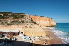 Benagil w Algarve, Portugalia Zdjęcie Royalty Free