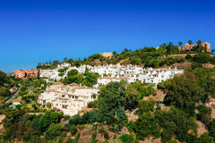 Benahavis In Malaga, Andalusia, Spain. Summer Cityscape Royalty Free Stock Image