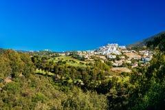 Benahavis In Malaga, Andalusia, Spain. Summer Stock Photos