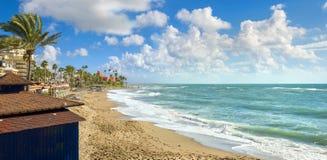 benalmadena海滩 马拉加省,安大路西亚,西班牙 免版税库存照片