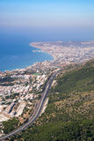 BENALMADENA, ANDALUCIA/SPAIN - JULY 7 : View from Mount Calamorro near Benalmadena Spain on July 7, 2017 royalty free stock photo