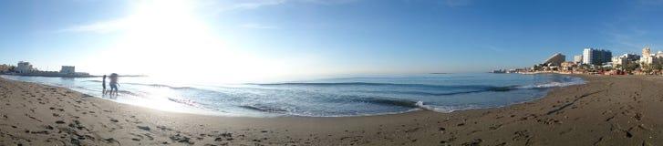 Benalmadena beach. A panoramic view of benalmadena beach i Royalty Free Stock Images