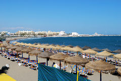 Benalmadena beach. Royalty Free Stock Photo