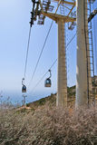 Benalmadena cable car Royalty Free Stock Photos