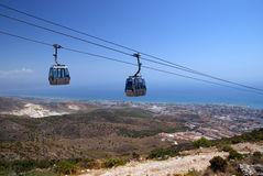 Benalmadena cable car Stock Photography