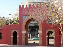 Benalmadena-Doors of  castle BIL-BIL-costa del Sol Royalty Free Stock Photos