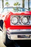 Benalmadena Hiszpania, Czerwiec, - 21, 2015: Frontowy widok klasyczny Chevrolet Fotografia Royalty Free
