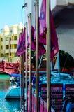 BENALMADENA, HISZPANIA, MAJ 10 i mieszkania, -, 2018 luksus łodzie ja obraz royalty free