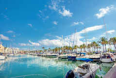 Benalmadena marina. Costa del Sol, Malaga province, Andalusia, S. Puerto Marina in Benalmadena. Costa del Sol, Malaga province, Andalusia, Spain royalty free stock photo