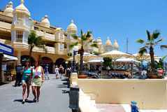 Benalmadena marina waterfront. Royalty Free Stock Image