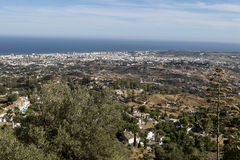 From Benalmadena mountains outskirts Royalty Free Stock Image