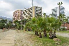 Benalmadena plaża, Andalucia prowincja, Hiszpania obrazy stock