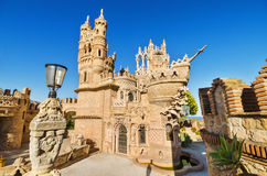 BENALMADENA, SPAIN - APRIL 28: Castle monument of Colomares on April 28, 2014. Is a monument honoring Cristopher Colombus and the Stock Image