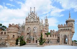 Benalmadena, Spain -September 24, 2009: Castillo de Colomares. Monument, in the form of a castle, dedicated to the life and adventures of Christopher Colombus royalty free stock photos