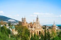 BENALMADENA SPANIEN - FEBRUARI 06, 2015: Panoramautsikt till Coloma Royaltyfri Bild