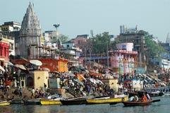benaras城市圣洁印度 免版税图库摄影