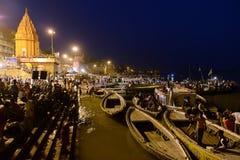 Benaras τη νύχτα Στοκ Φωτογραφίες