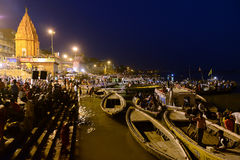 Benaras At Night Stock Photos