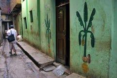 Street art and narro line of varanasi india