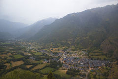 Benasque valley in the spanish pyrenees Royalty Free Stock Photography