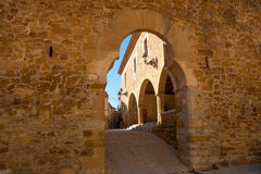 Benassal Arc de la Mola Benasal in Maestrazgo Castellon. At spain Royalty Free Stock Image