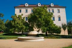Benatky. Castle Benatky nad Jizerou with blue sky in Czech republic Stock Images