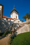 Benatky. Castle Benatky nad Jizerou with blue sky in Czech republic Royalty Free Stock Image