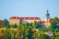 Benatky nad Jizerou Castle in Central Bohemia, Czech Republic.  royalty free stock images