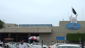 Benazir Bhutto International Airport in Islamabad, Pakistan stock video