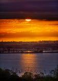 Benbrook jeziora wschód słońca fotografia stock