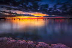 Benbrook Lake at Dawn Royalty Free Stock Images