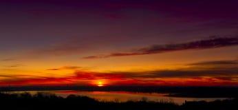Benbrook Lake Sunrise Stock Images