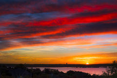 Benbrook Lake Sunrise Stock Image