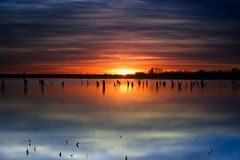 Benbrook Lake Sunrise Royalty Free Stock Photo