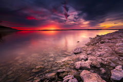 Benbrook Lake Sunset Royalty Free Stock Images