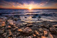 Benbrook Lake Sunset Royalty Free Stock Photo