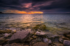 Benbrook Lake Sunset Stock Photography