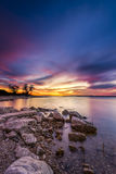 Benbrook Lake Sunset Royalty Free Stock Photos