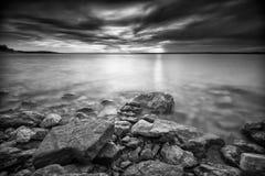Benbrook Lake Sunset Royalty Free Stock Image
