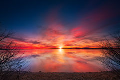 Benbrook Lake Sunset Stock Photos