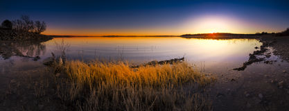 Benbrook Lake Sunset Royalty Free Stock Image