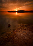 Benbrook Lake Winter Sunset Stock Image